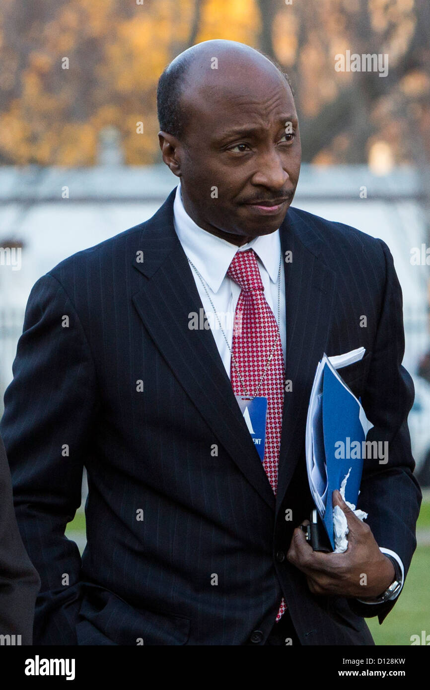 Merck President and CEO Ken Frazier arrives at the White House. - Stock Image