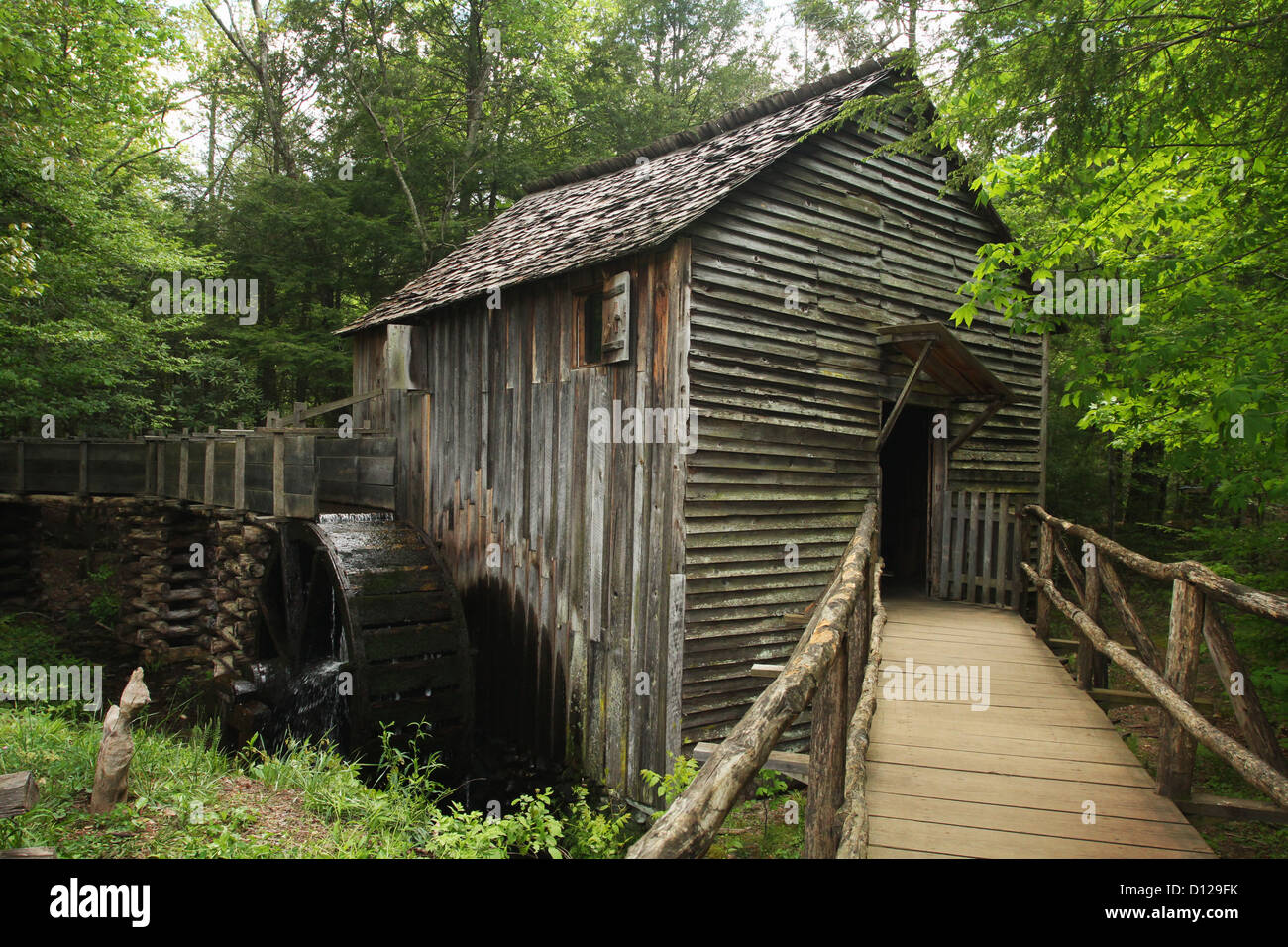 Cable Mill in Cades Cove, Great Smoky Mountains National Park. Townsend, Tennessee, USA. Stock Photo