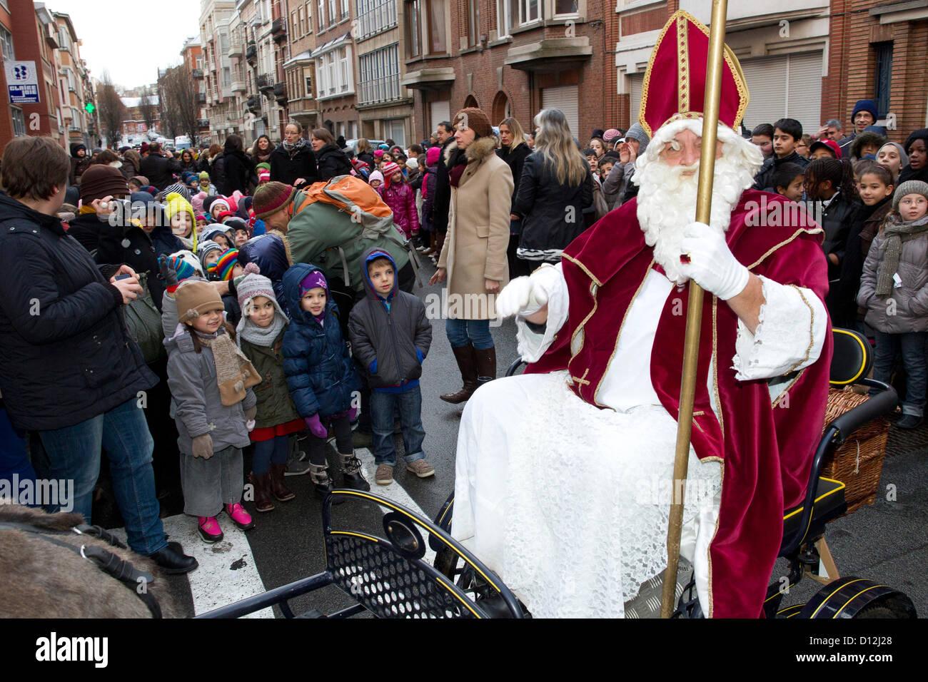 saint nicholas and children Stock Photo