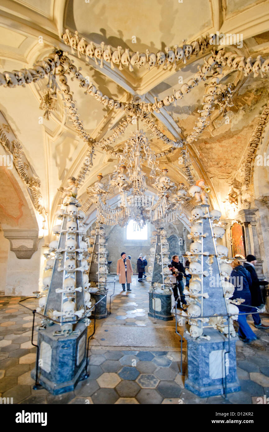 Chapel Interior of Sedlec Ossuary, Kutná Hora, Czech Republic. - Stock Image