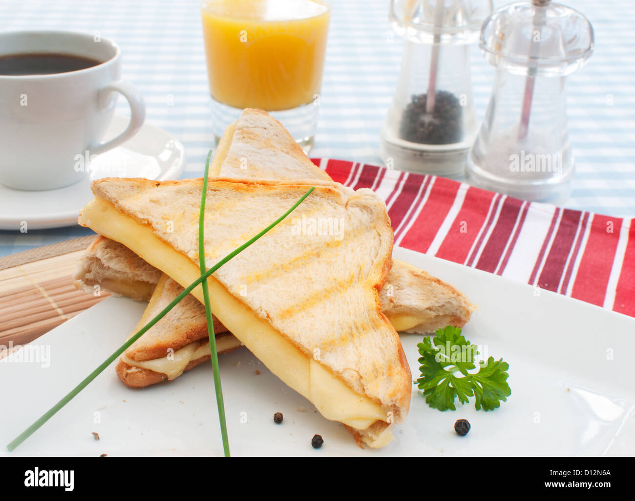 Toasted sandwich - Stock Image