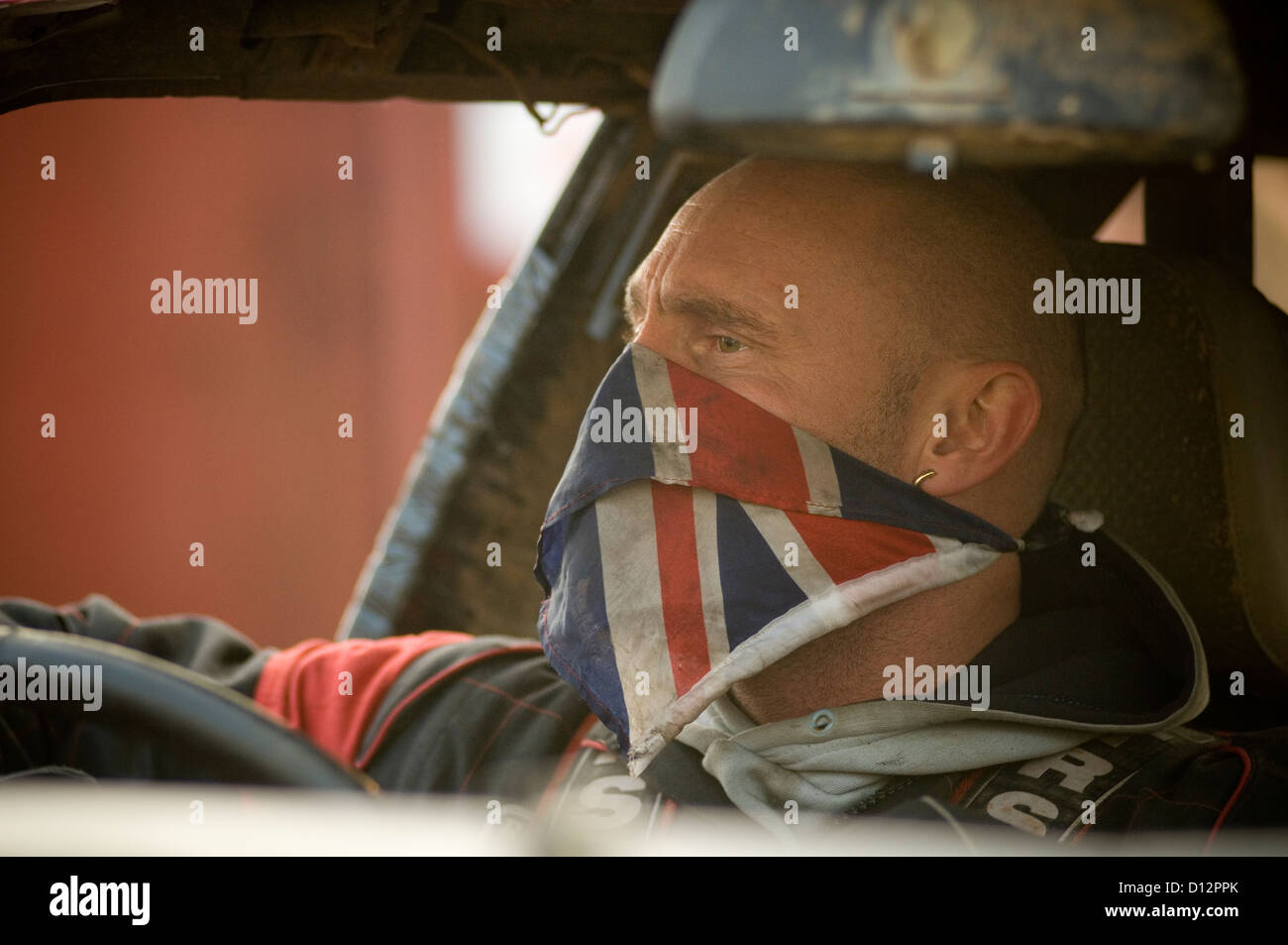 stock car racer before a race - Stock Image