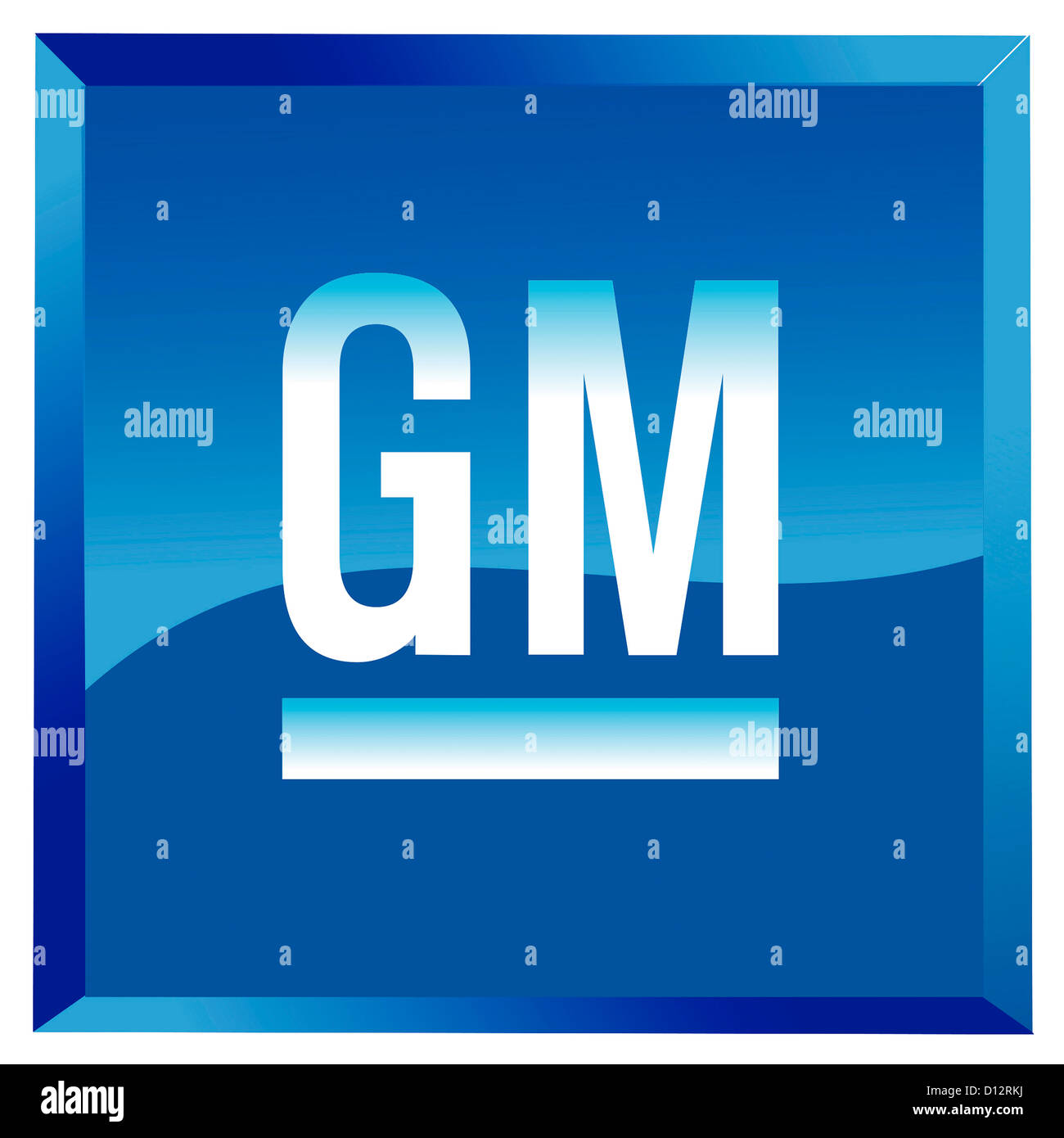 Company logo of the American automobile manufacturer General Motors GM  based in Detroit. - Stock Image