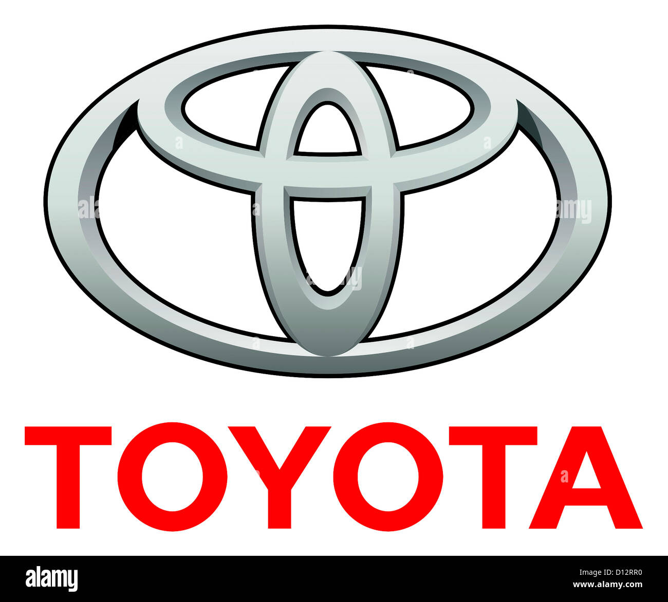 Company logo of Japanese automotive corporation Toyota with seat in Aichi. - Stock Image