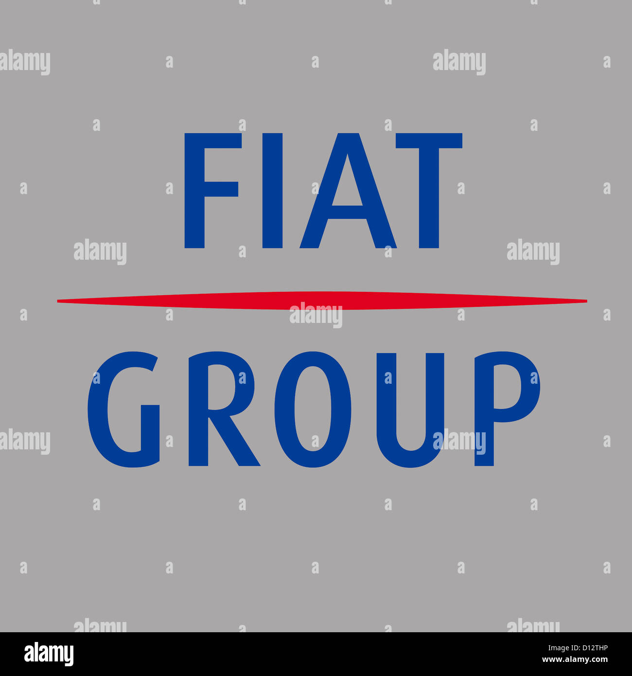 Company logo of the Italian automobile manufacturer Fiat Automobiles with seat in Turin. - Stock Image