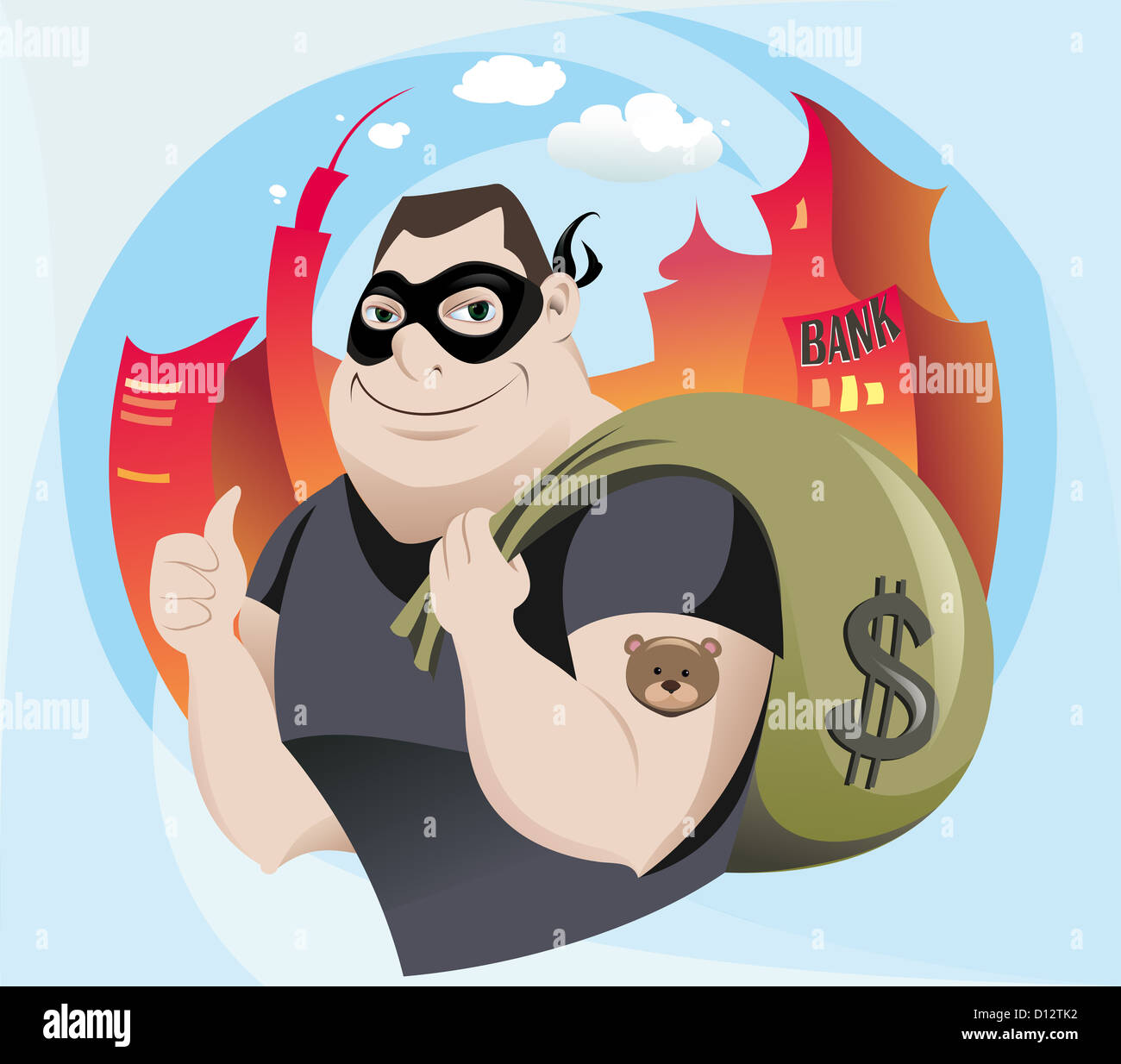 a3afa781240 The vector illustration of the Robber Stock Photo  52309014 - Alamy