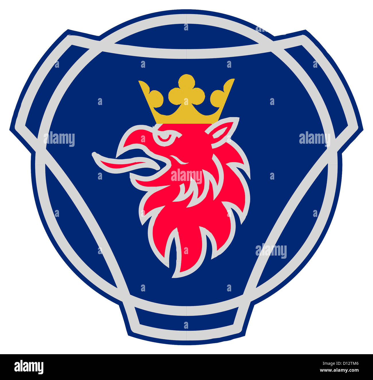 logo of the swedish vehicle manufacturer scania with seat