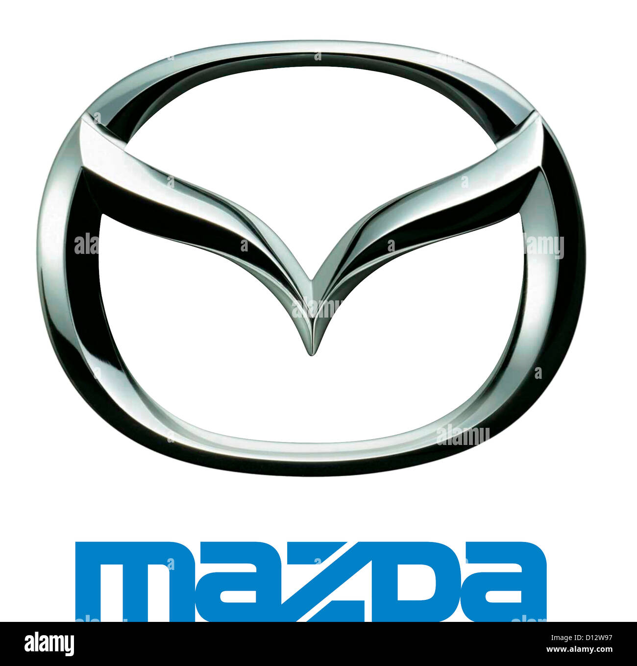 Company Logo Of Japanese Automotive Corporation Mazda With Seat In