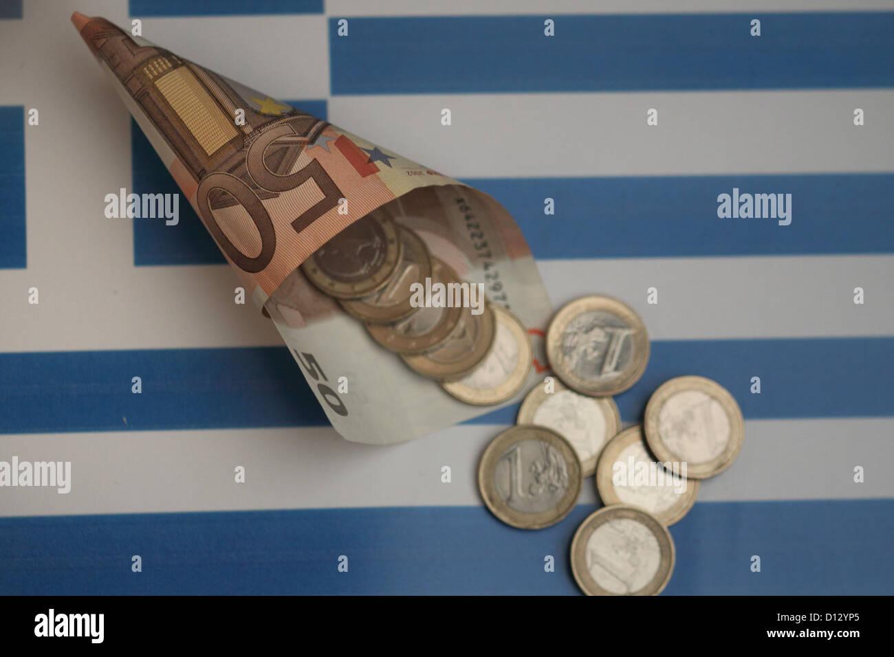Financial Cornucopia for Greece - Stock Image