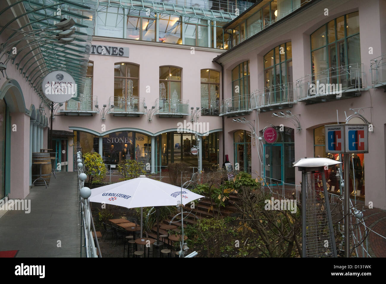 Hackesche Hofe Berlin Germany EU Smartened up and commercialised historic courtyards contain art galleries workshops - Stock Image
