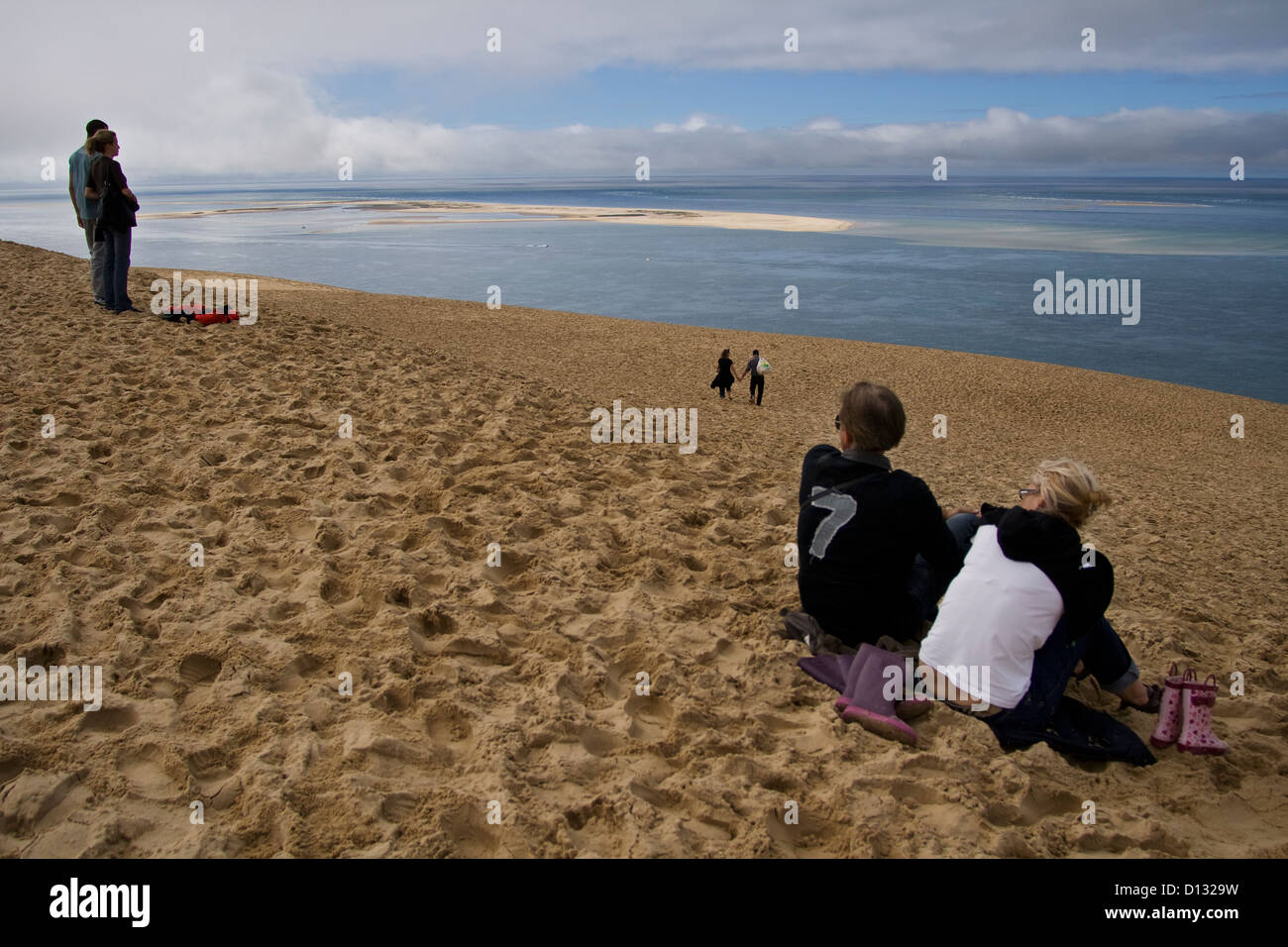 France Bordeaux Pyla Bassin Arcachon Dune Du Pilat Stock Photo Alamy