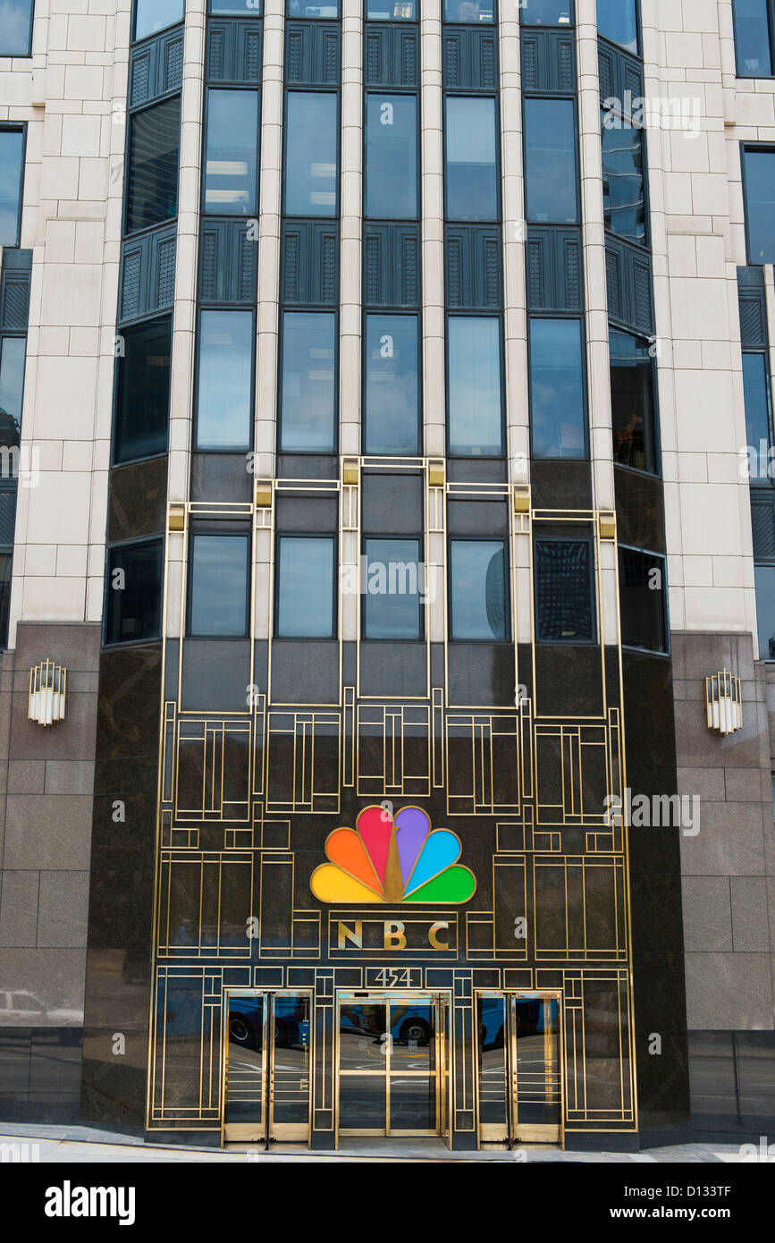 The Entrance Of The Building For Nbc; Chicago Illinois United States Of America - Stock Image