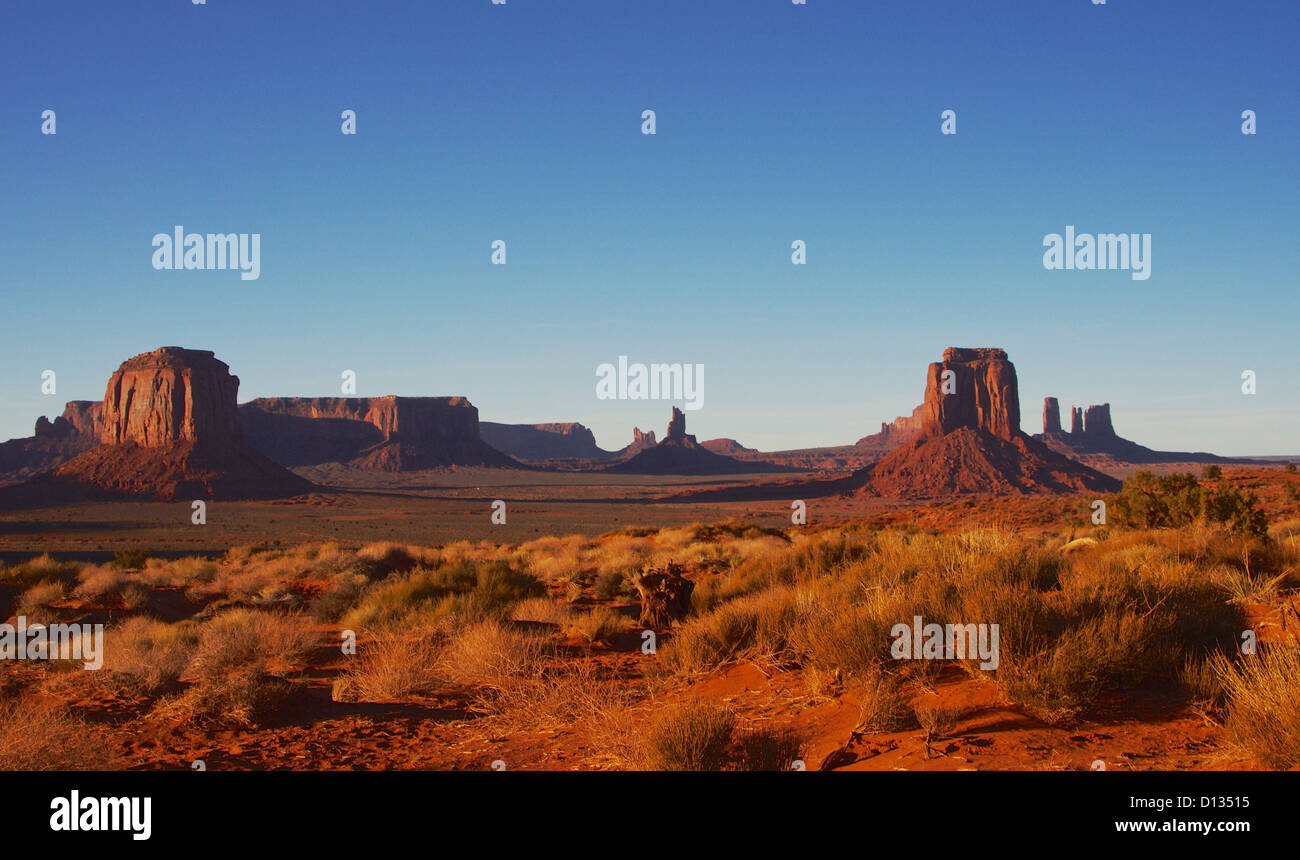 Monument Valley Sunset - Stock Image