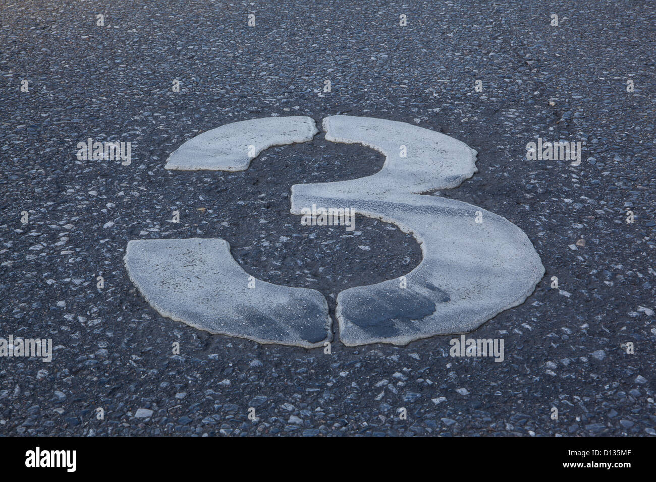 Germany,  Duisburg, numbering on parking area, close up Stock Photo