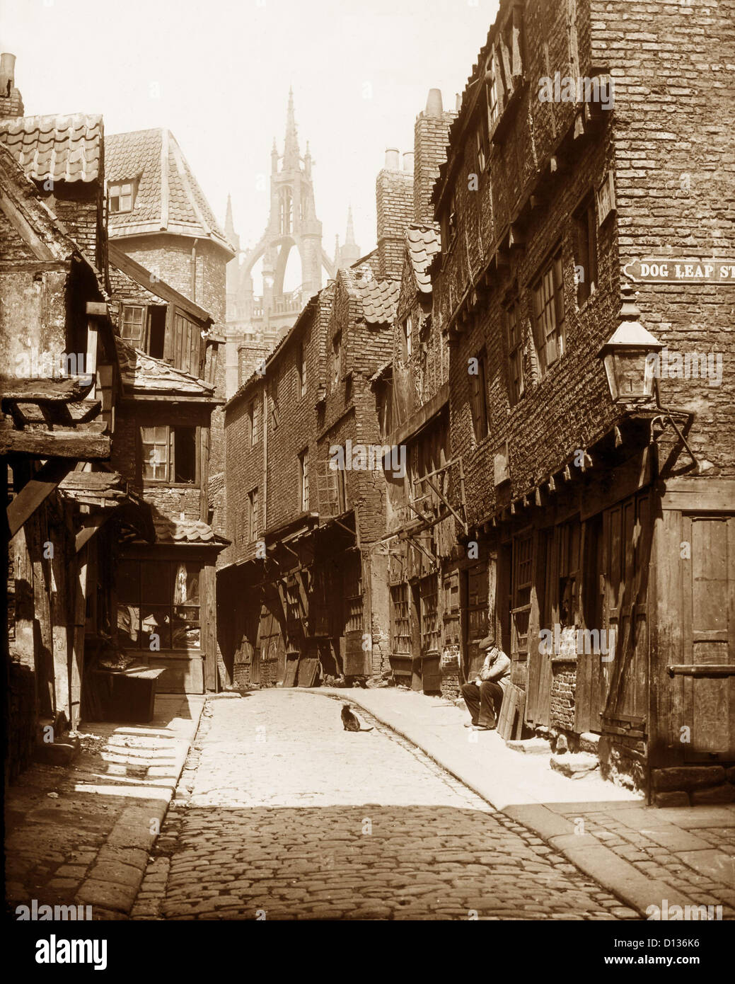 Castle Garth Newcastle Upon Tyne Victorian period - Stock Image
