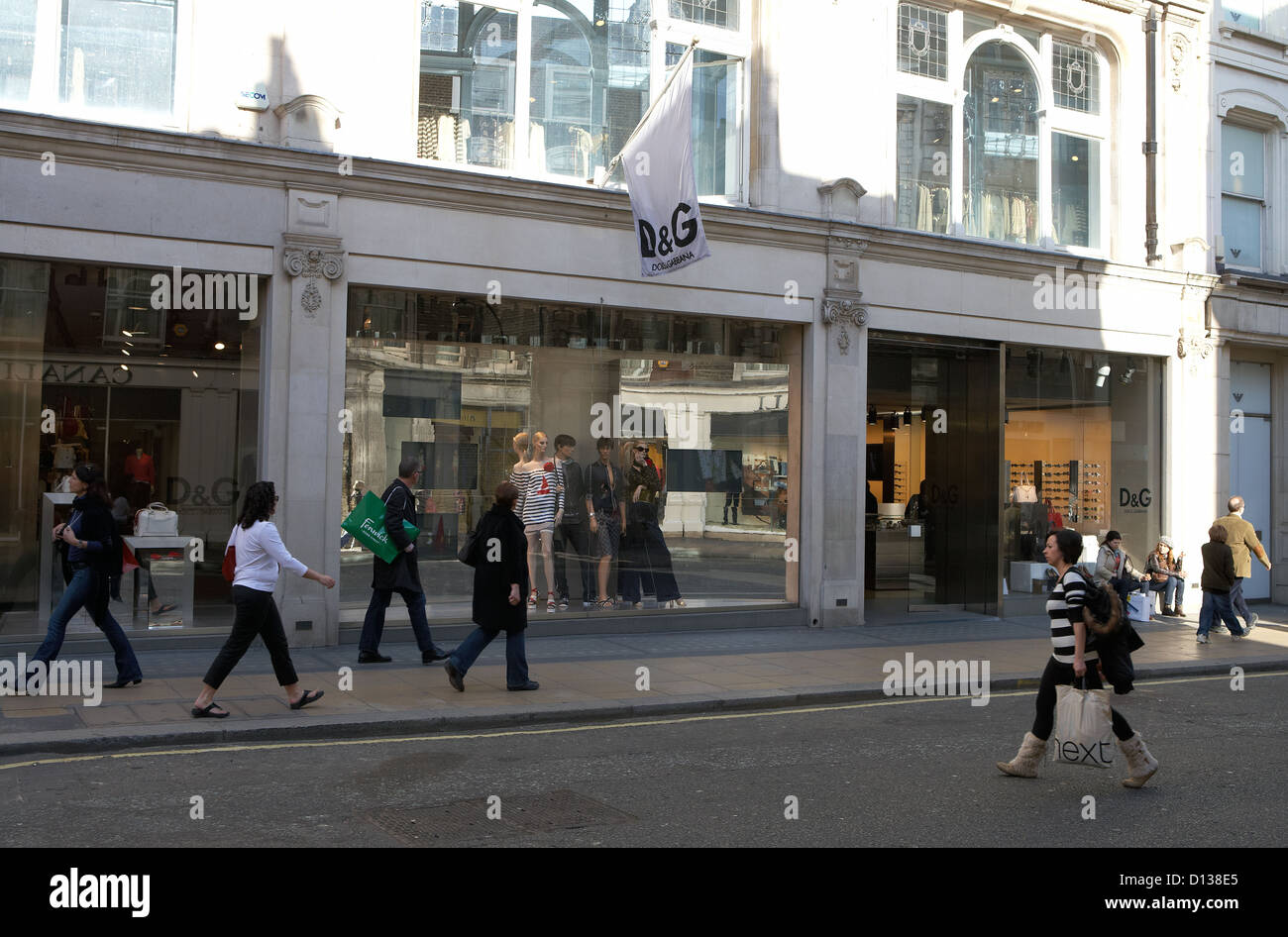 London, United Kingdom, a Nobel boutique of the brand Dolce and Gabbana - Stock Image