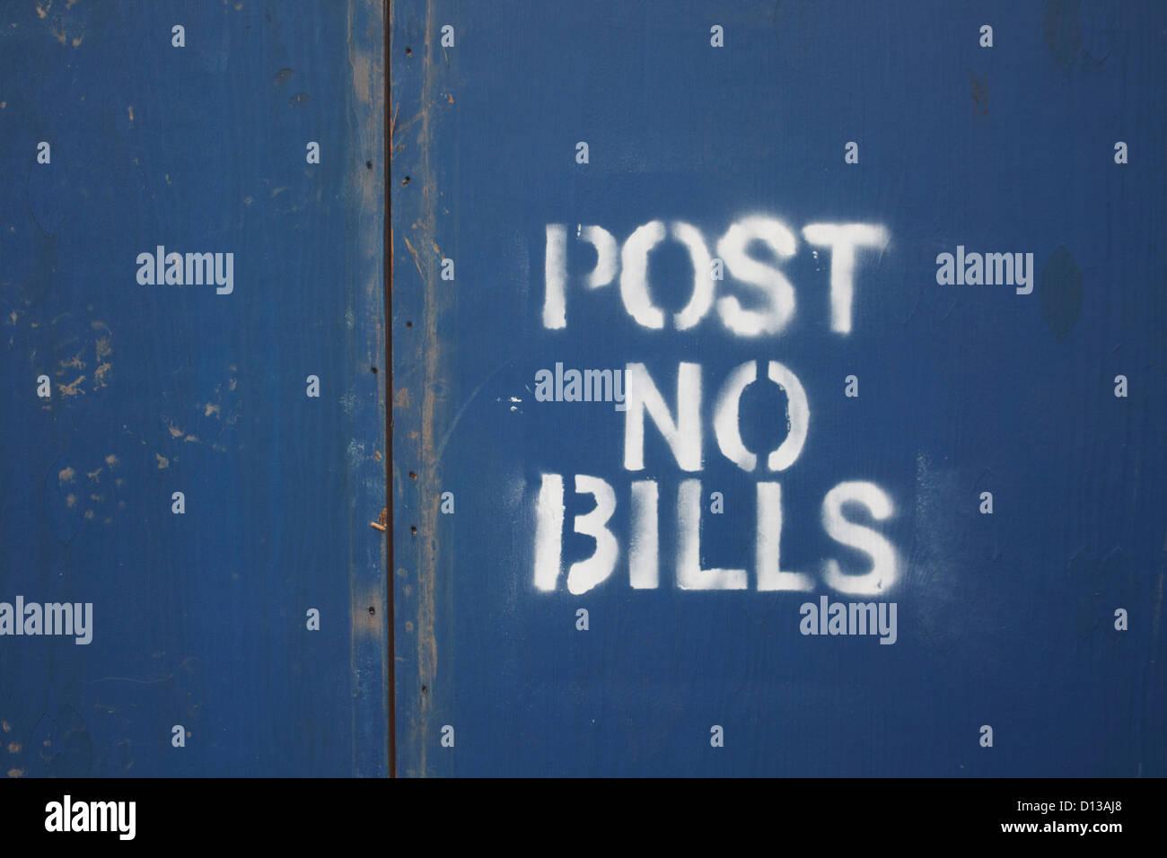 USA, New York, Close up of forbidden sign - Stock Image