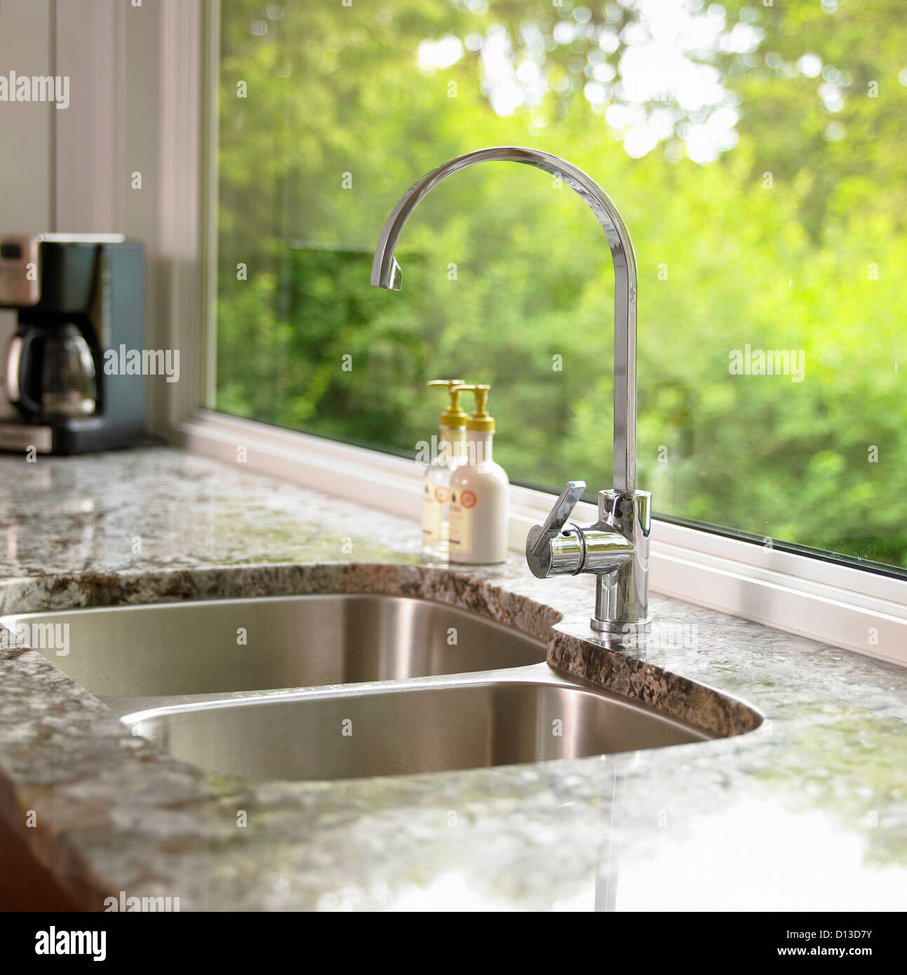 Detail Of Kitchen Sink With Granite Countertop; Victoria Vancouver ...