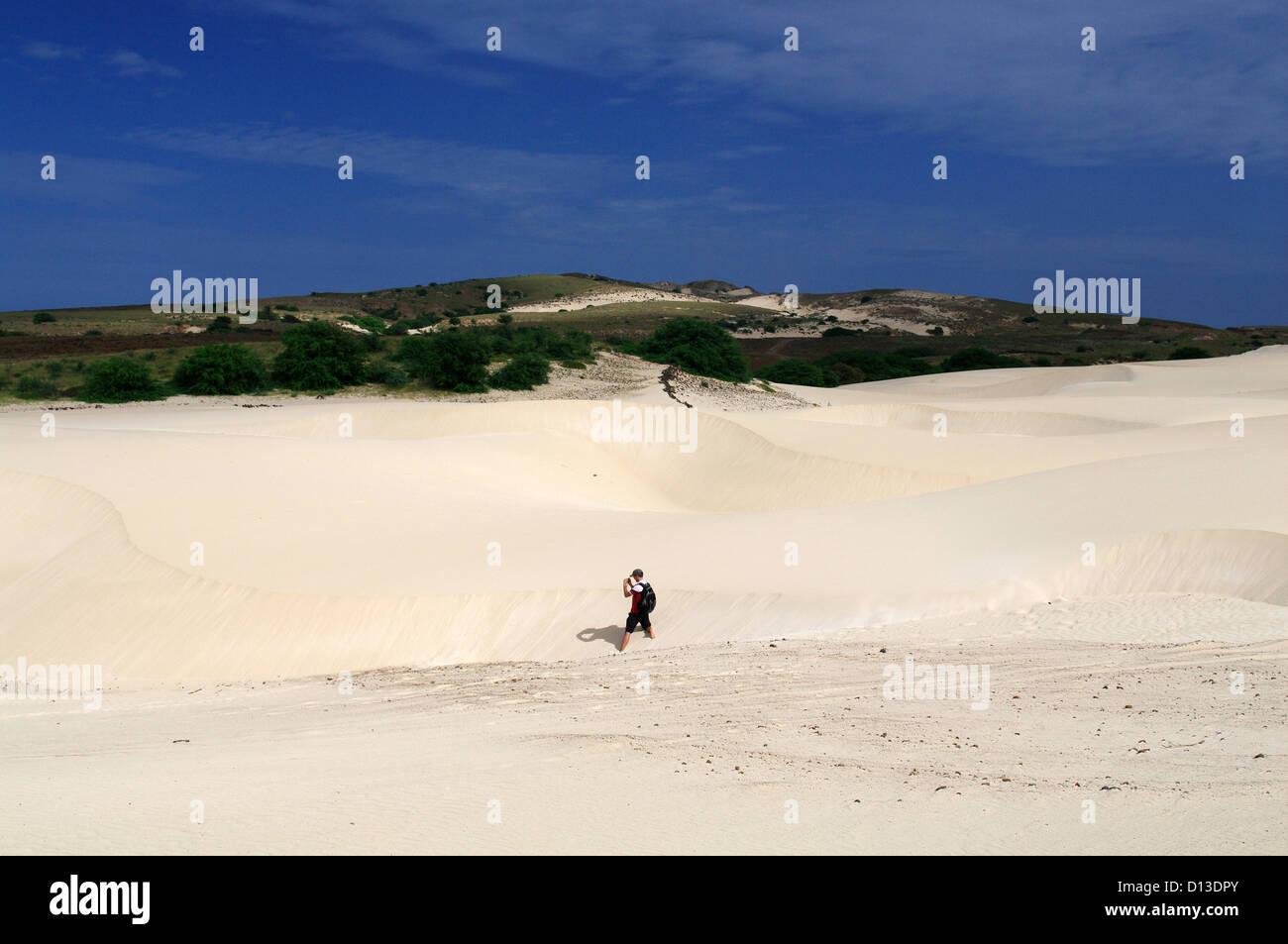 Deserto de Viana - Viana Desert on the island Boa Vista, Cape Verde - Stock Image