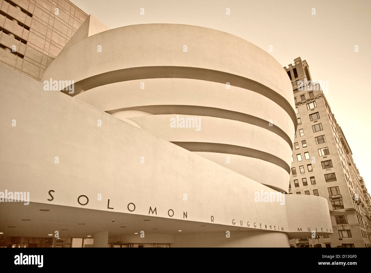 Solomon R Guggenheim Musuem, Manhattan, New York - Stock Image