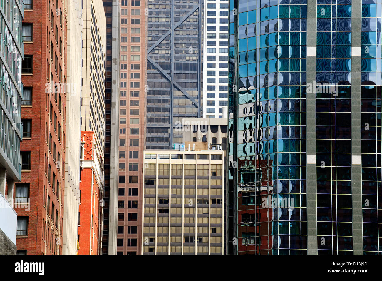 Building windows, Chicago, Illinois USA - Stock Image
