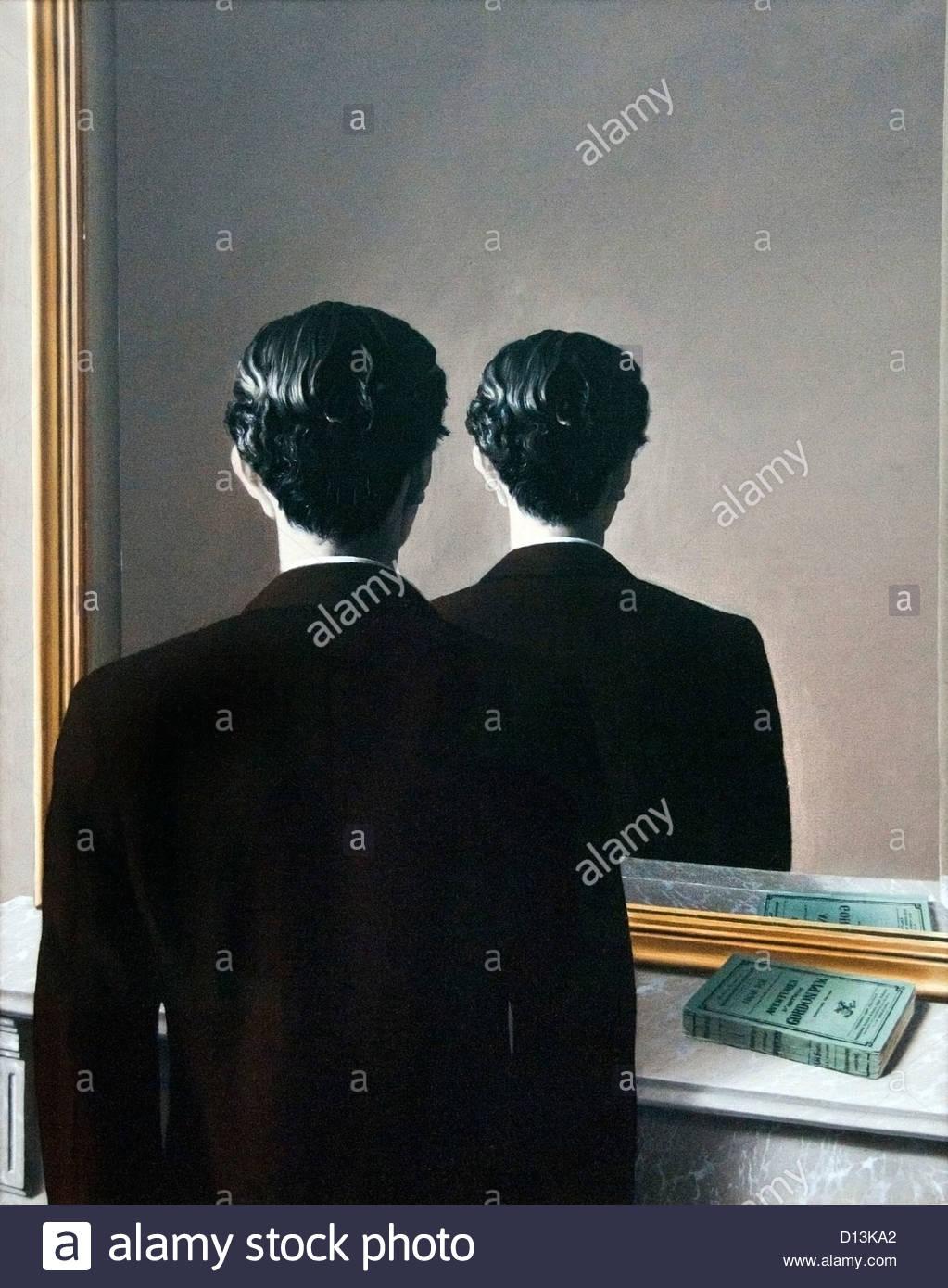 La Reproduction interdite 1937 Reproduction Prohibited by René Magritte Belgium Belgian surrealist - Stock Image