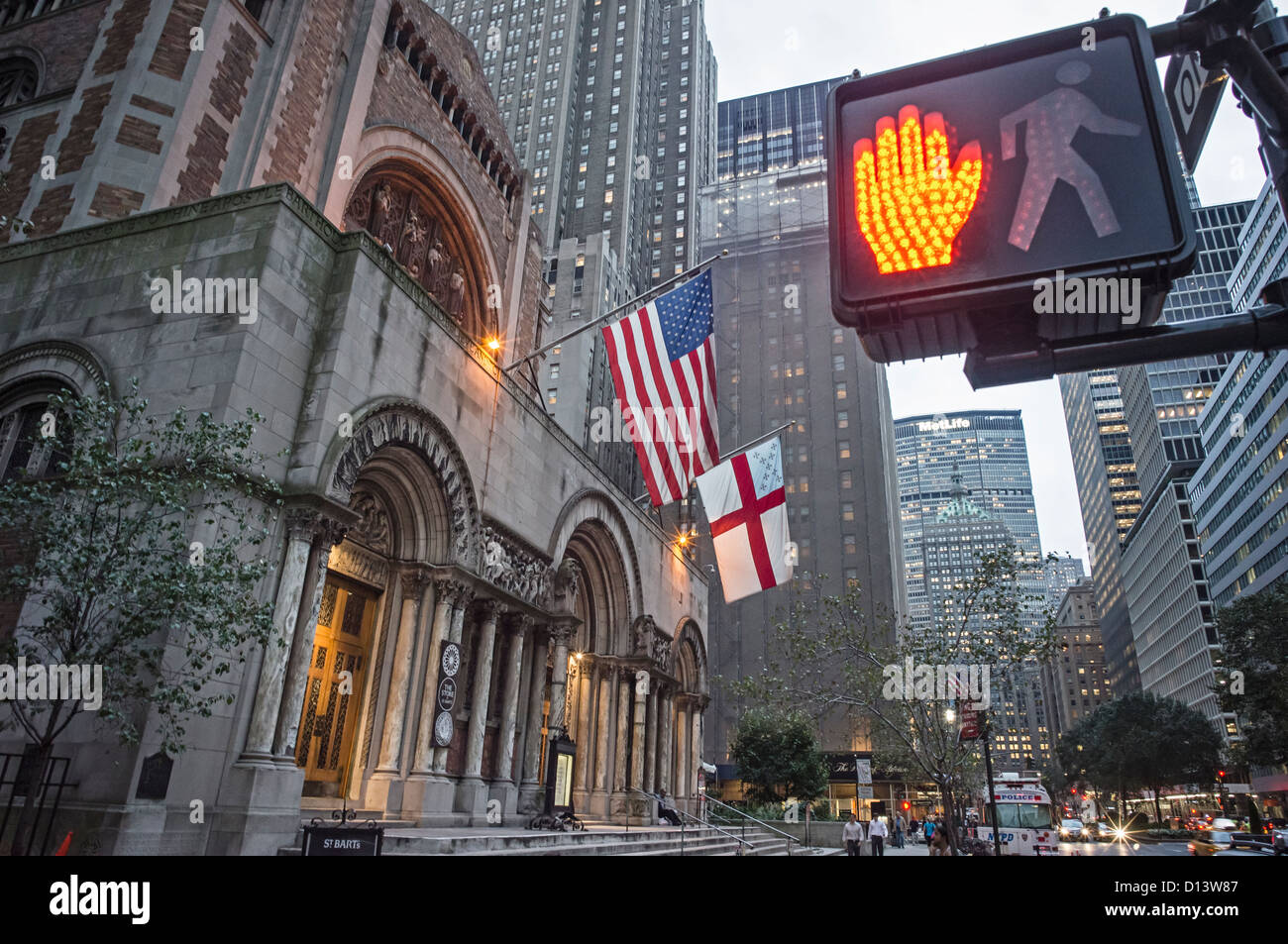 St. Barths Episcopal church, Park Avenue, Manhattan, New York City - Stock Image