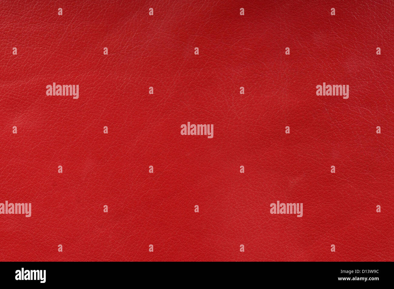 genuine red leather texture for background - Stock Image