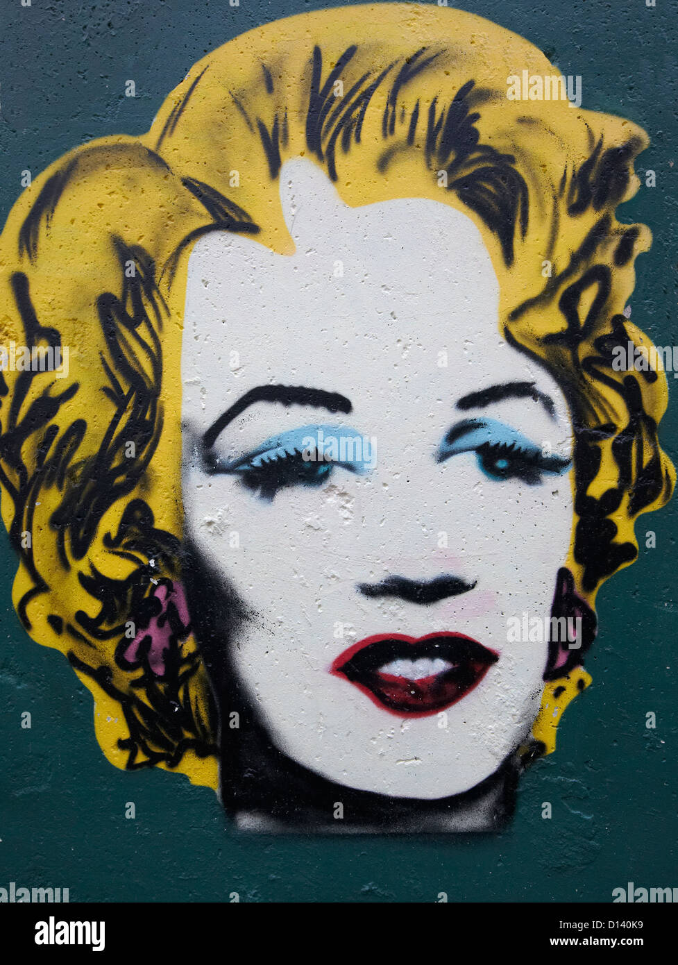 Marilyn Monroe Graffiti On the Berlin Wall Berlin Germany - Stock Image