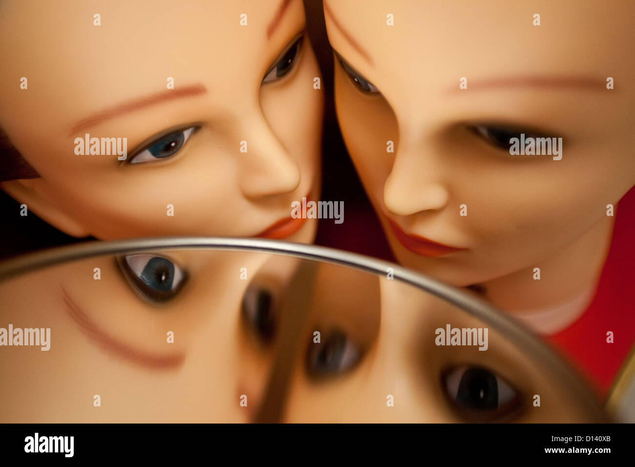 Mannequin heads - Stock Image
