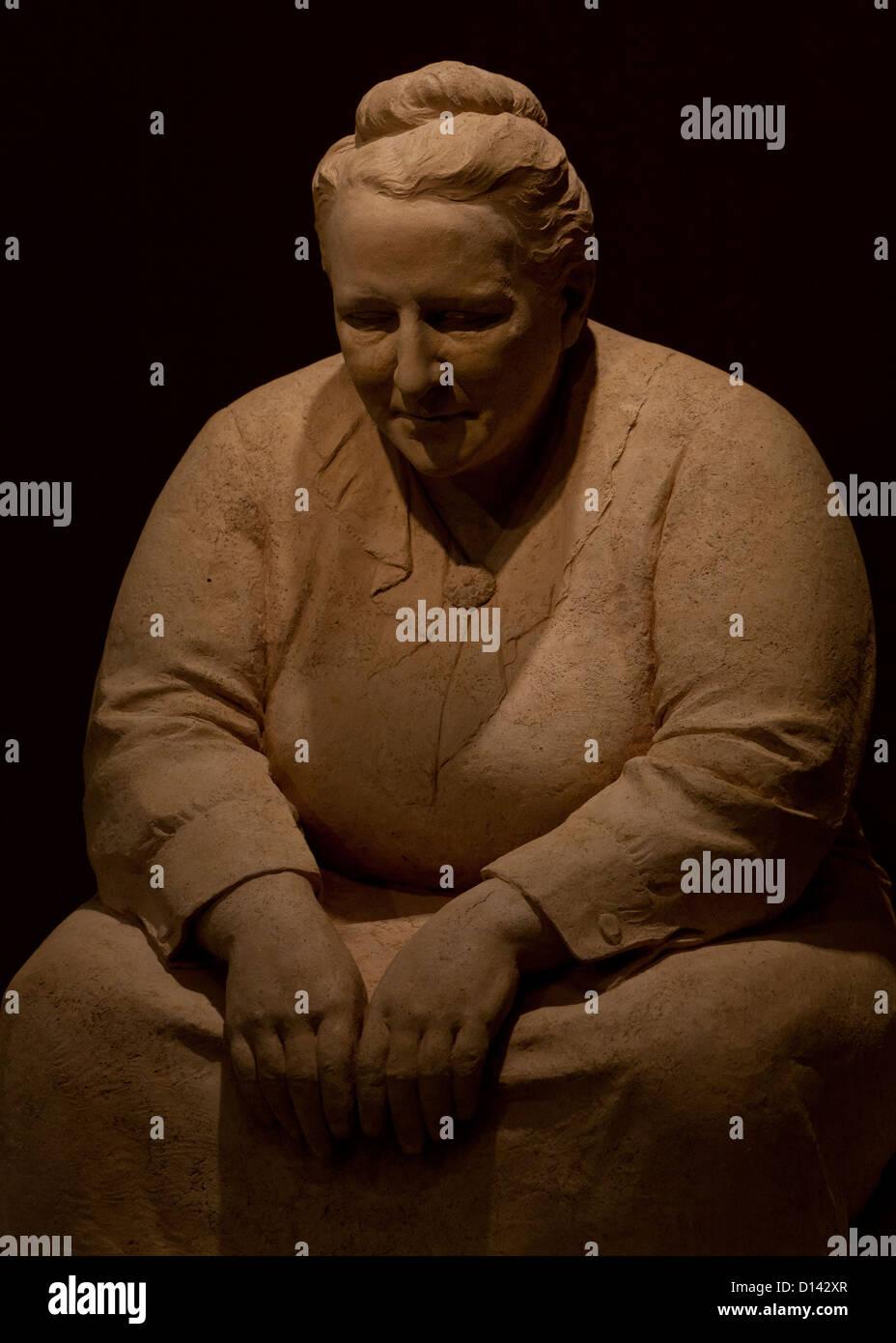Gertrude Stein sculpture by Jo Davidson, 1922 - Stock Image