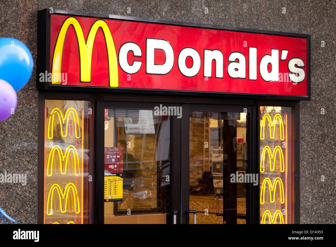 McDonald's entrance - Stock Image