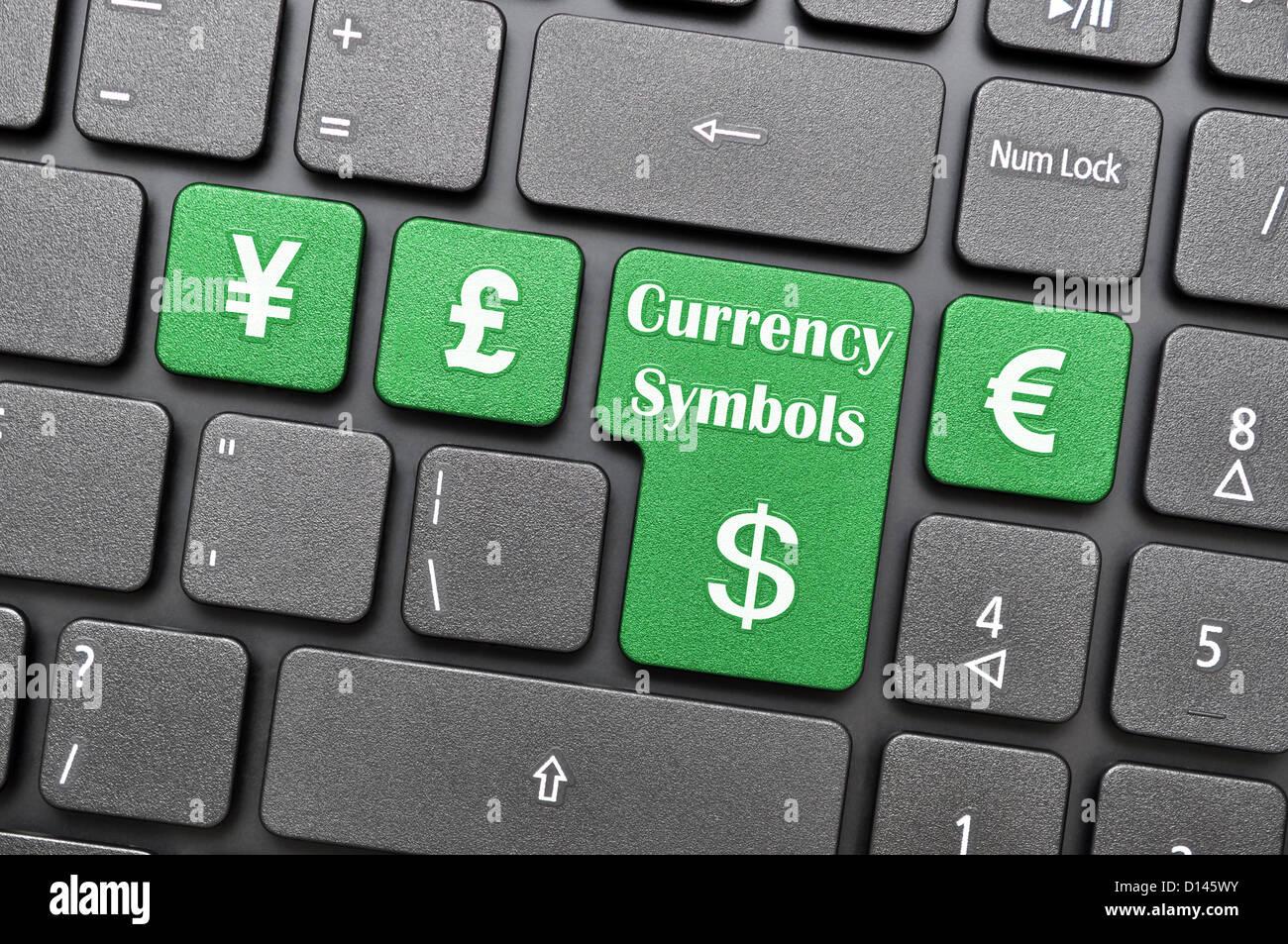 Currency Symbols On Keyboard Stock Photo 52338215 Alamy