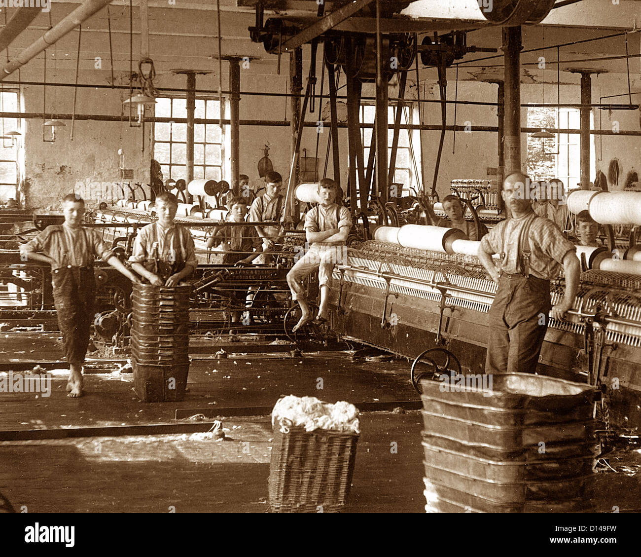 Lancashire Spinning Mill Victorian period - Stock Image