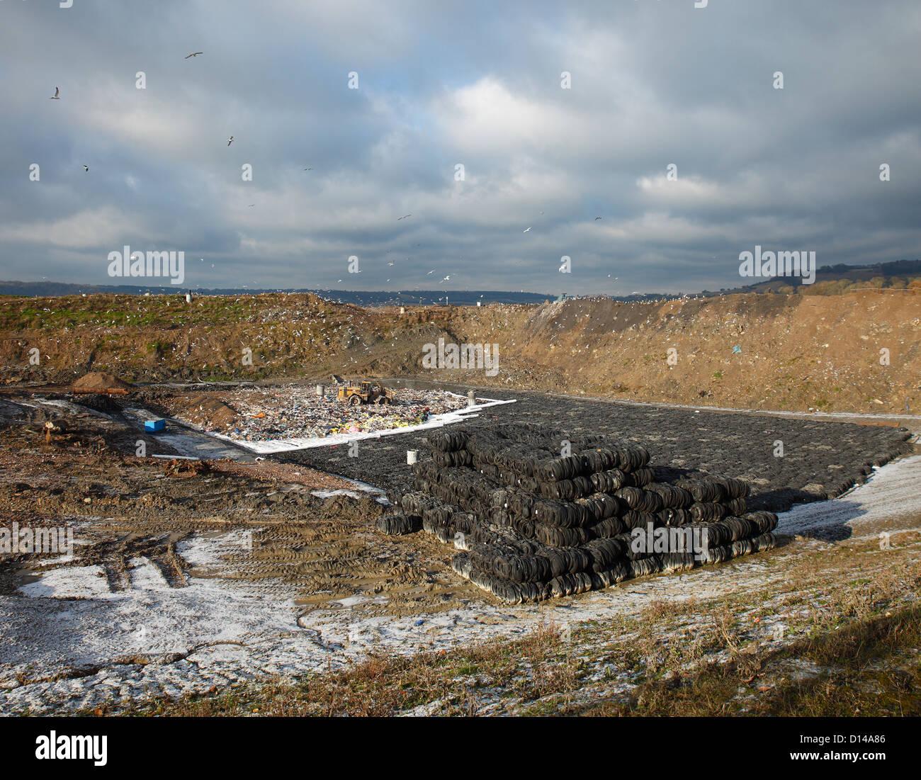 Landfill site at Greatness, Sevenoaks. - Stock Image
