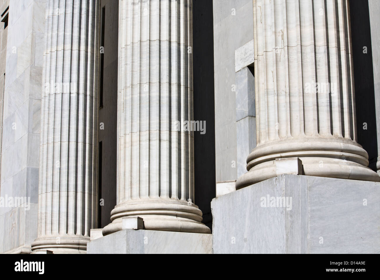 Detail image of Greek pillars - Stock Image