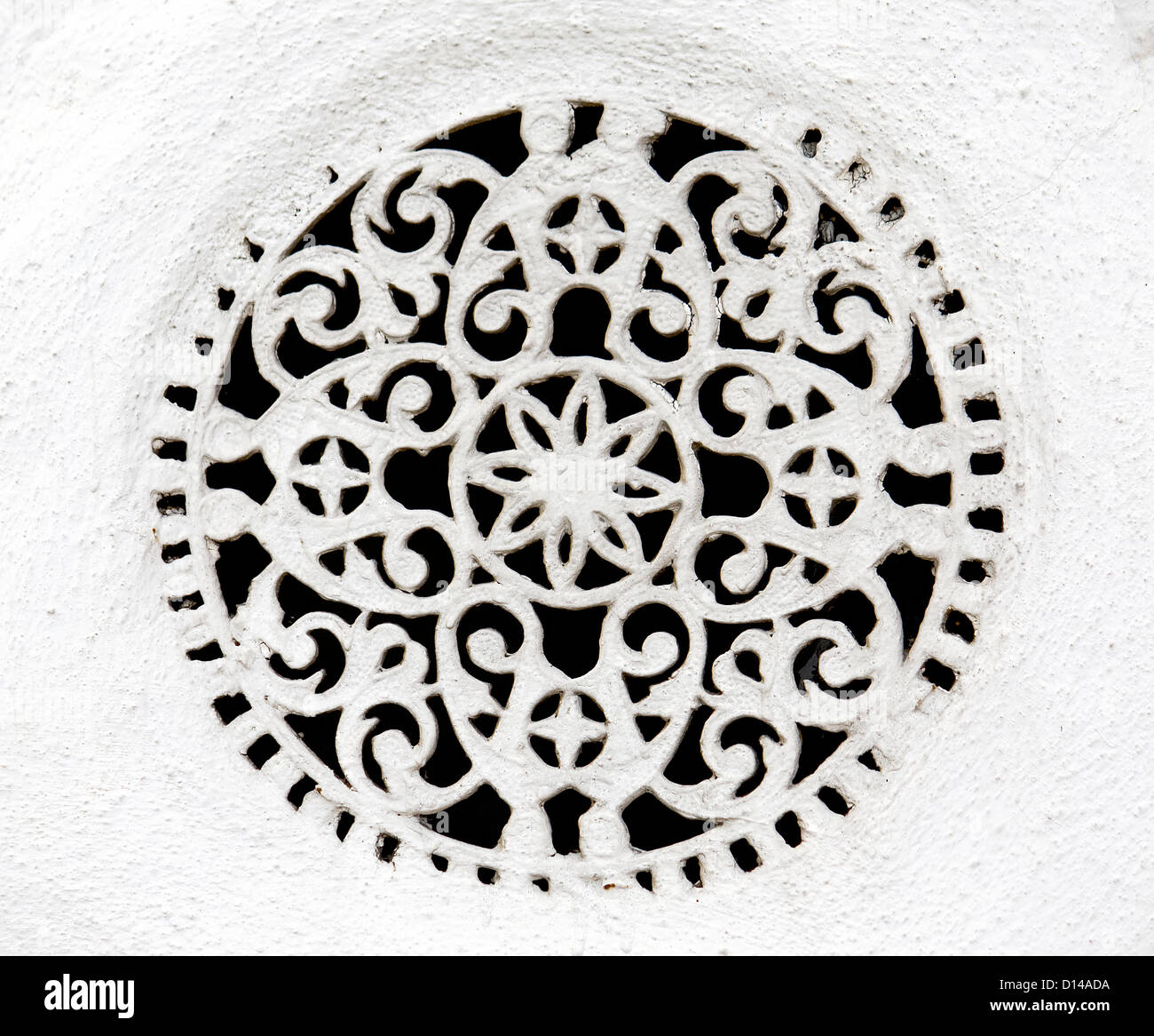 Window relief detail from a Greek traditional orthodox church - Stock Image