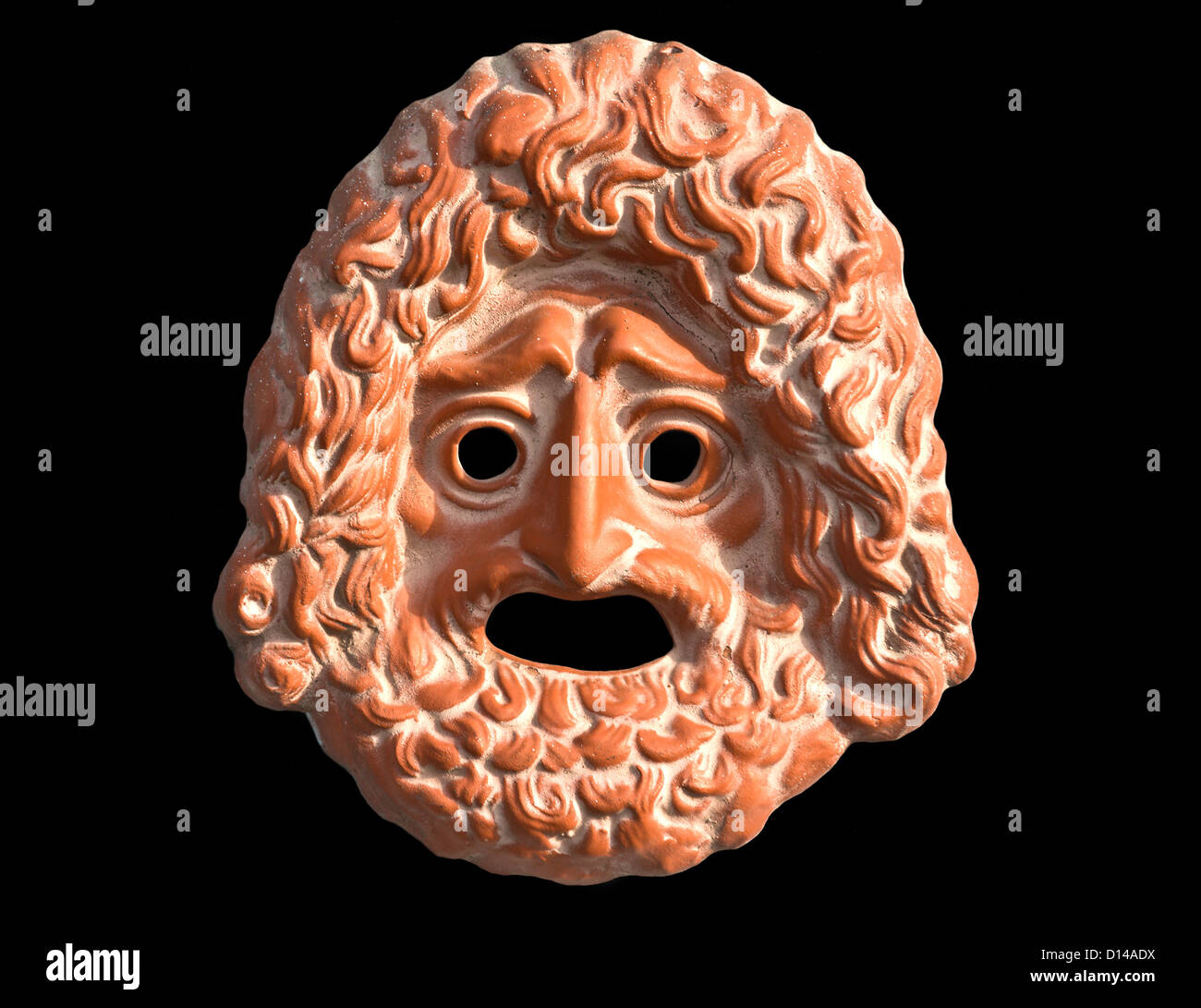 Mask used from actors on greek ancient tragedy performances - Stock Image