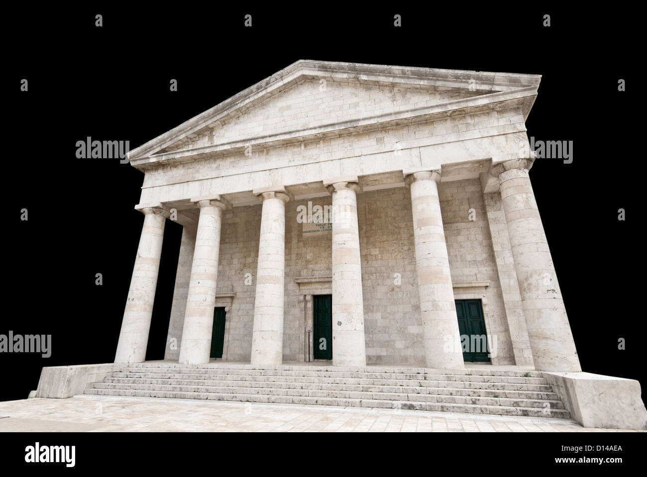 Ancient Greek temple isolated Stock Photo
