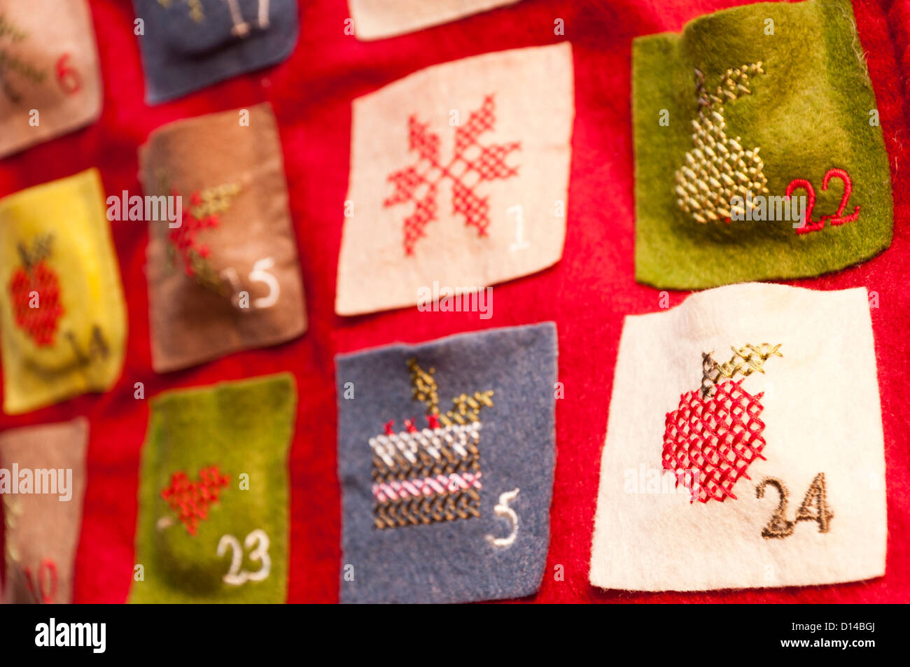 Christmas Advent calendar - Stock Image
