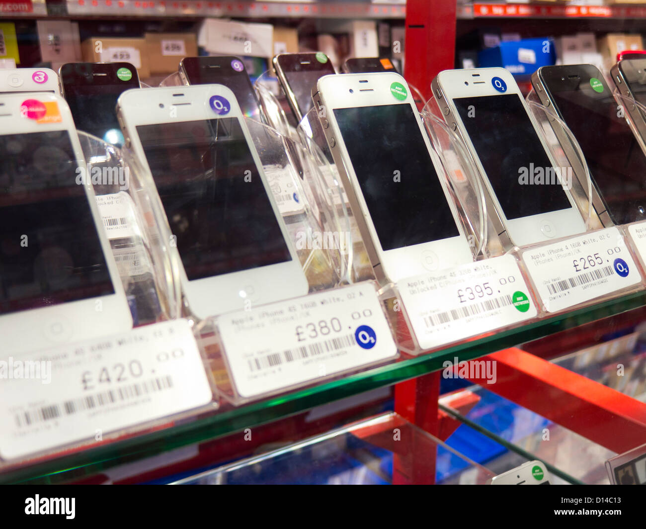 second hand mobile phones smartphones Stock Photo: 52343007 - Alamy