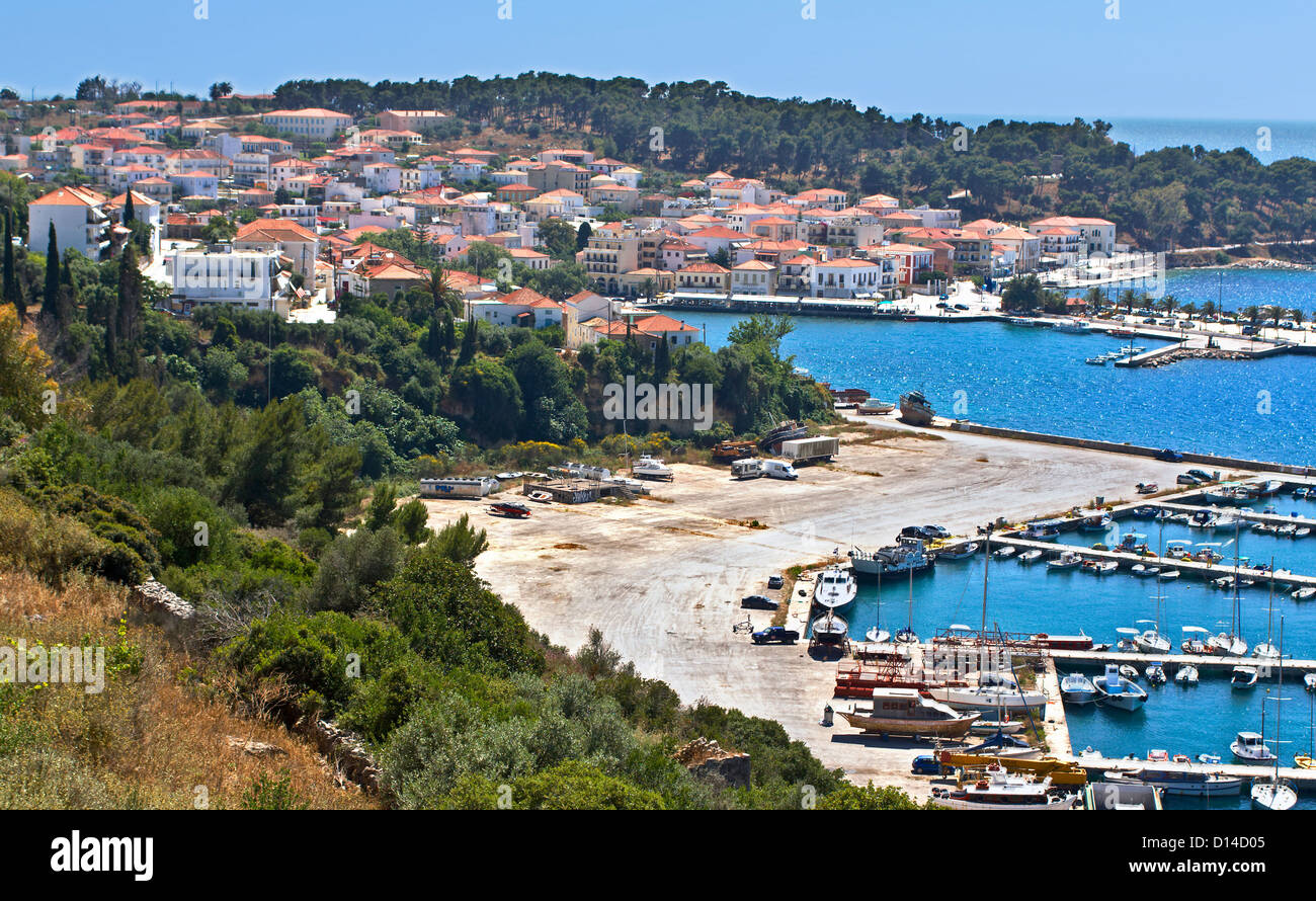 Traditional village of Pylos, at Peloponnisos, Greece - Stock Image