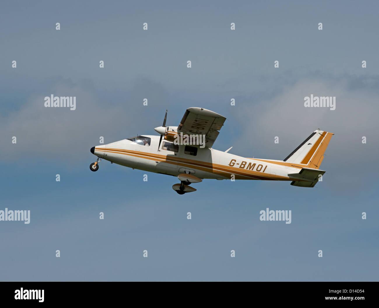 Partenavia P.68B Italian built twin engined light transport plane. SCO 8859 - Stock Image