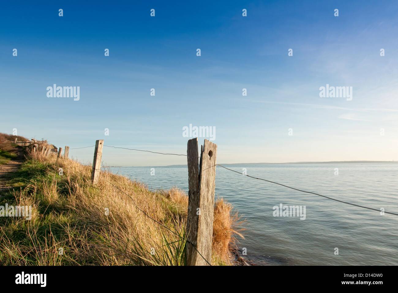 Coastal footpath - Stock Image