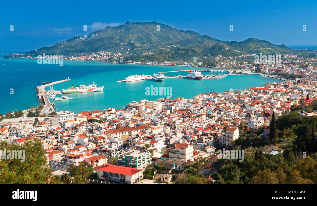 Zakynthos island at the Ionians sea in Greece - Stock Image