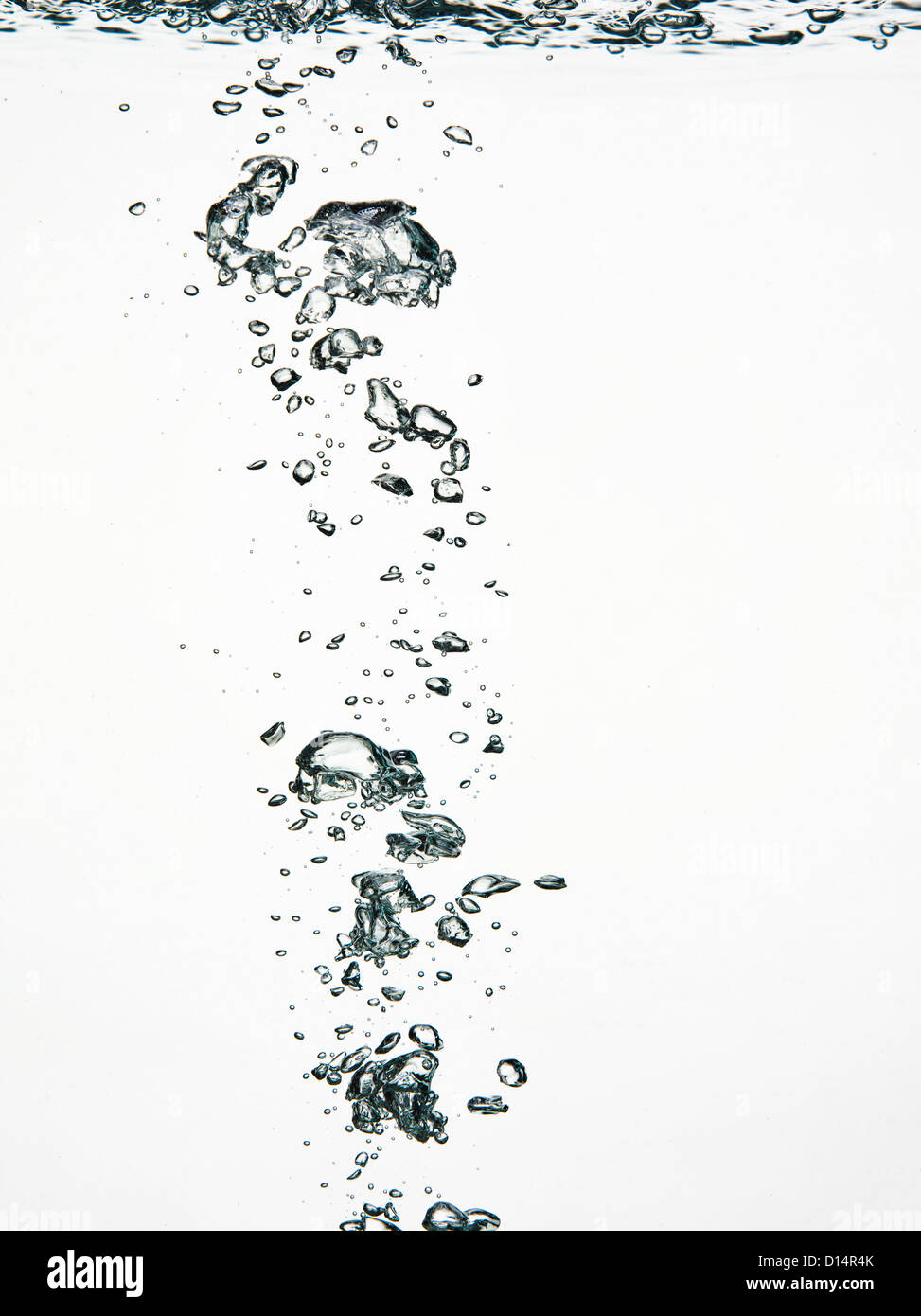 Close up of bubbles in water - Stock Image
