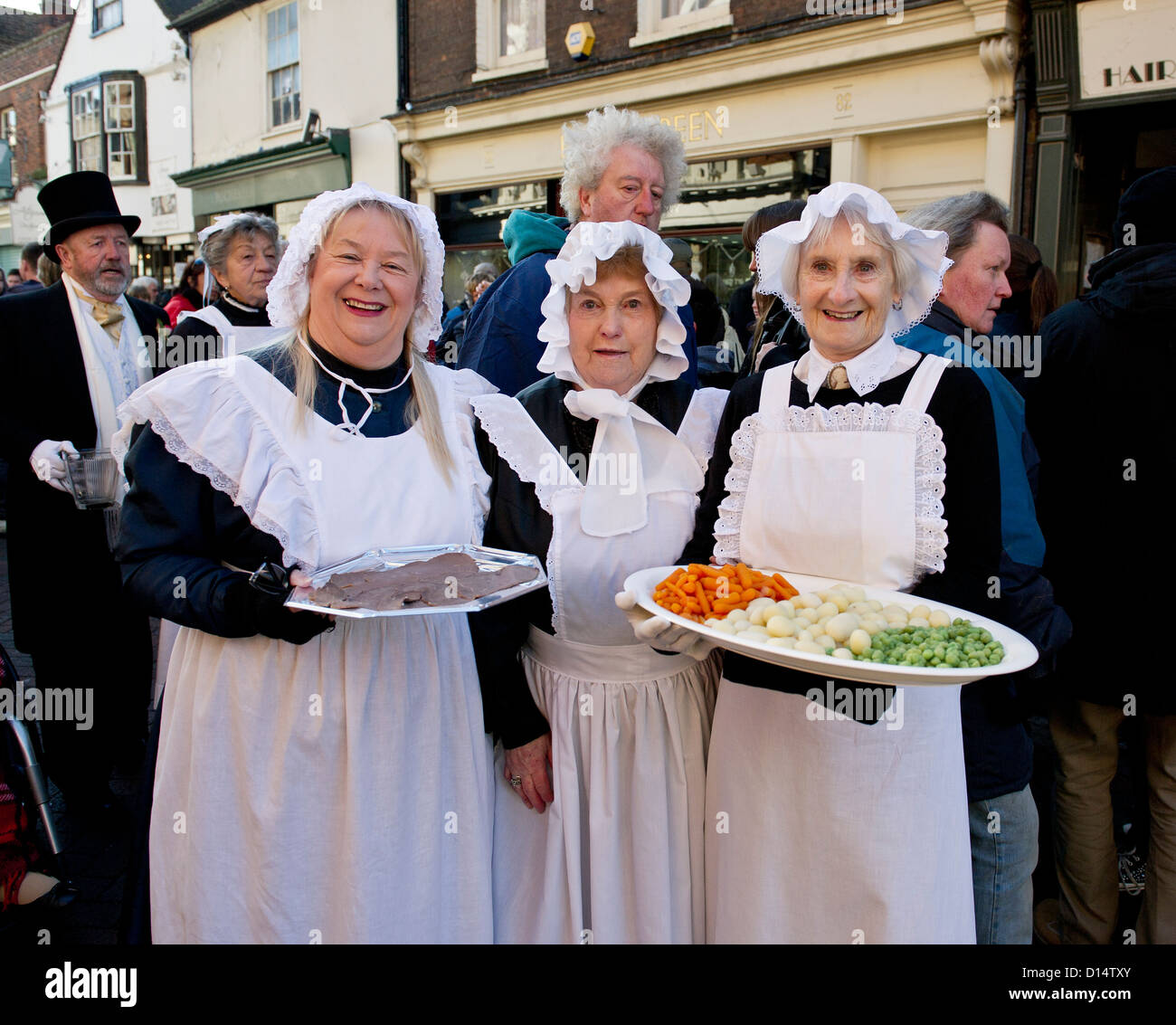 Characters at the Dickens Christmas Festival in Rochester. - Stock Image