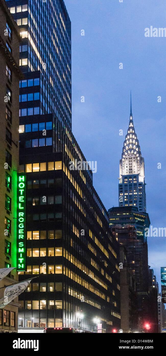 Lexington Avenue, Chrysler building, New York - Stock Image