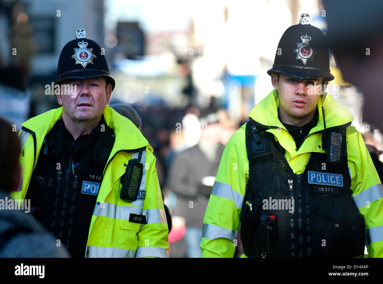 Two officers from the Kent Constabulary - Stock Image