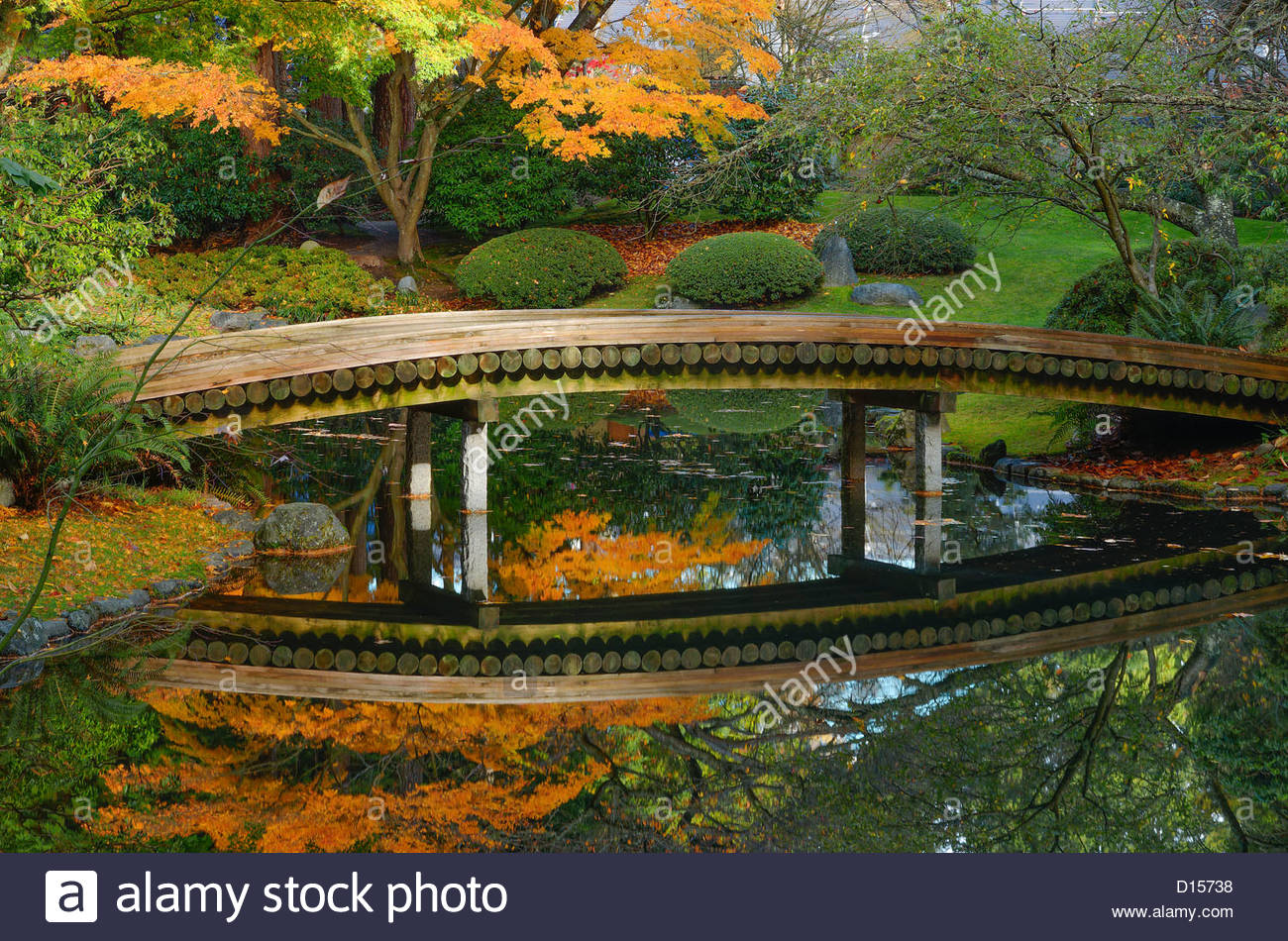 Nitobe Memorial Garden, a traditional Japanese garden UBC, Vancouver, British Columbia, Canada